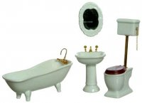 White Bathroom Set (4pc)