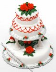 Dollhouse Scale Model 3 Tier Christmas Wedding Cake