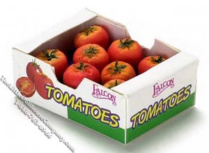 Miniature Box of Tomatoes for Dollhouses