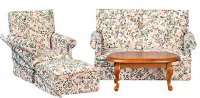 Floral Living Room Set (4pc)