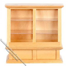 Miniature Oak Store Display Case for Dollhouses
