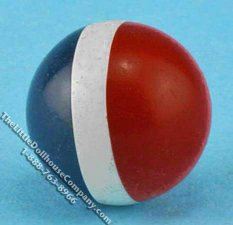 Miniature Red, White, and Blue Ball for Dollhouses