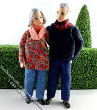 Margot & Rudi Flexible Grandparent Dolls by Erna Meyer