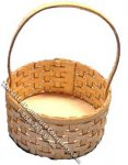 Miniature Round Basket Kit for Dollhouses