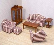 Miniature Living Room Furniture Set for Dollhouses