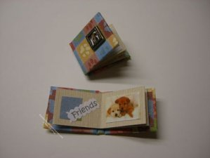 Miniature Scrapbook Album of Dogs For Dollhouses