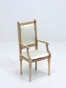 Miniature Bespaq Unfinished Louis XVI Armchair for Dollhouses