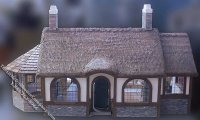 Assembled Tudor Style Old Irish Cottage Dollhouse