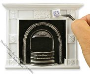 Miniature White Decorate Yourself Fireplace Unit for Dollhouses