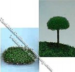 Miniature 3/4 Inch Half-Round Tree Top for Dollhouses (10/pk)