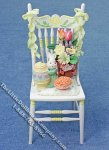Miniature Easter Themed Decorated Chair for Dollhouses