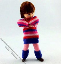 Mira Girl Flexible Doll in Striped Sweater by Erna Meyer