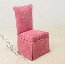 Miniature Pink Parsons Chair for Dollhouses
