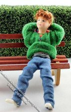 Felix Flexible Boy Doll by Erna Meyer for Dollhouses