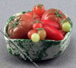 Tomatoes in Square Bowl