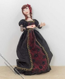 Red Haired Woman Wearing an Elegant Dress by Patsy Thomas