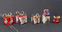 Miniature Wrapped Presents for Dollhouses (1/pk)