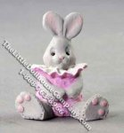 Miniature Sitting Bunny Figurine for Dollhouses