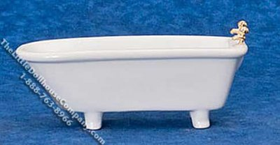 Miniature Classic White Bath Tub for Dollhouses