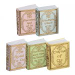 Miniature Reproduction Wizard of Oz Books for Dollhouses
