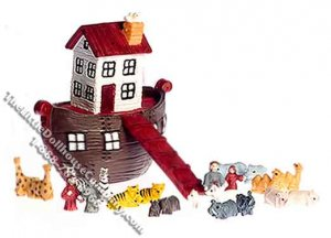 Ark Play Set of 25 Pieces for Dollhouses