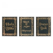 Miniature Reproduction Set of Religious Books for Dollhouses