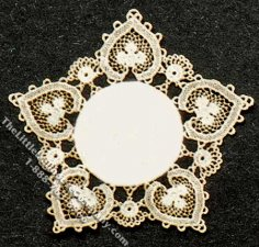 Miniature Hearts Themed Laser Cut Doily for Dollhouses