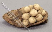 Dollhouse 1/2 Scale Model Sack of Dirty Potatoes