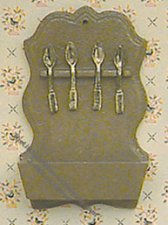 Miniature Spoon Rack For Dollhouses