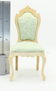 Miniature Unfinished Cloth Backed Queen Anne Chair
