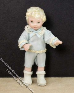 Blond Haired Boy Wearing Victorian Clothing by Patsy Thomas