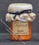 Dollhouse Scale Model Homemade Apricot Jam in Wax Sealed Jar