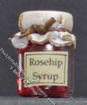 Dollhouse Scale Model Homemade Rosehip Syrup in Wax Sealed Jar