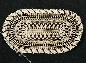 Miniature Oval Laser Cut Doily for Dollhouses