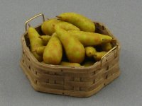 Dollhouse Scale Model Open Basket with Pears