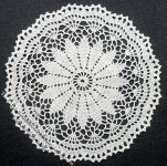 Miniature Handmade Lace Round Doily for Dollhouses