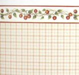 1/2 Scale Enamelware and Cherries Wallpaper for Dollhouses