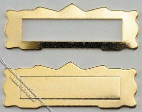 Miniature Mail Slot for Dollhouse Scale Models, 1 set/pkg.