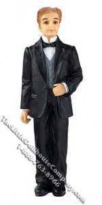 1/12 Scale Groom Resin Doll for Dollhouses