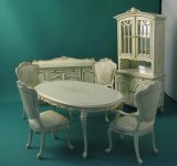 Dollhouse Miniature 7 pc Dining Room Set
