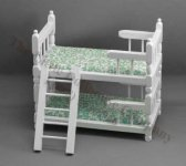 Miniature Bunkbed with Ladder (fabric may vary)