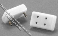 Dollhouse 1/2 Scale Model Petite Double Wall Outlets, 4/pack