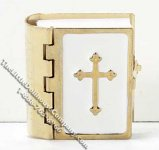 Miniature Brass Bible for Dollhouses