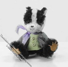 Dollhouse Scale Model Sitting Badger