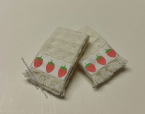 Miniature Tea Towel Set For Dollhouses