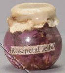 Dollhouse Scale Model Rosepetal Jelly for Dollhouses