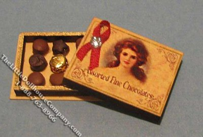 Miniature Assorted Fine Chocolate Box Kit for Dollhouses