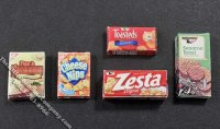 Miniature Box of Crackers for Dollhouses (1/pk)