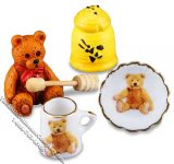 Miniature Honey Bear Breakfast Set for Dollhouses