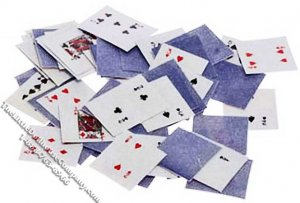 Miniature Playing Cards for Dollhouses